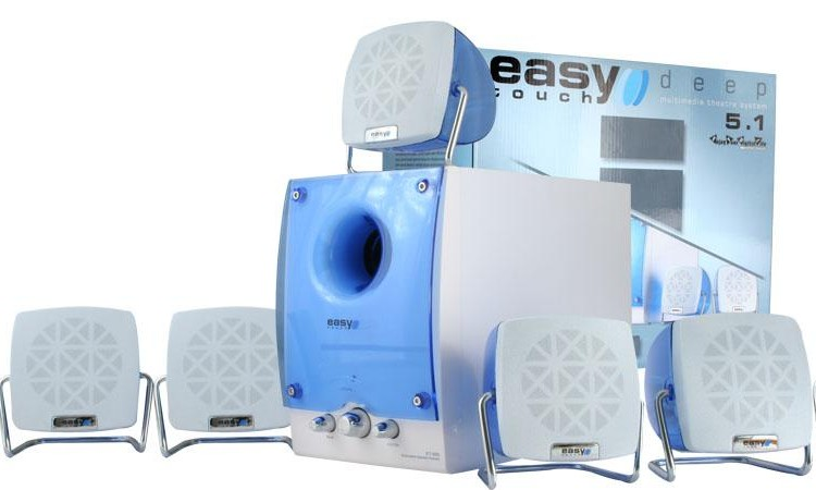 Speakers EASY TOUCH ET-680 5.1/30W+5x10W